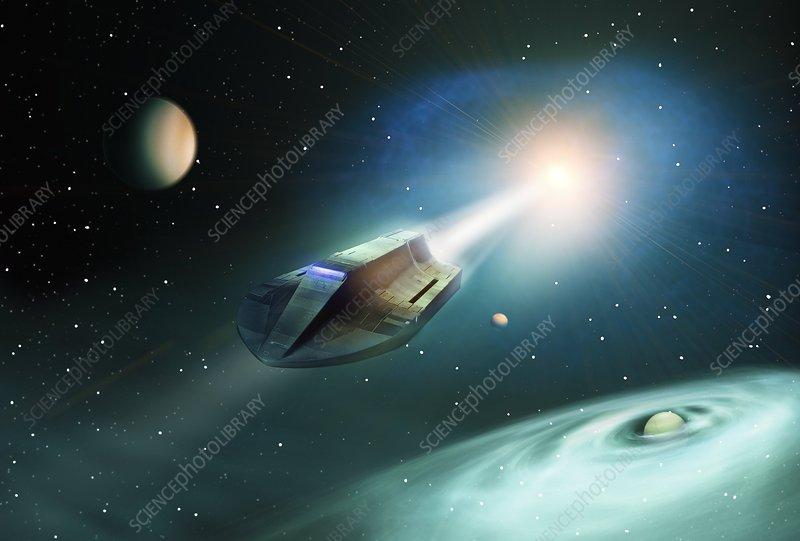 Spaceship, conceptual artwork