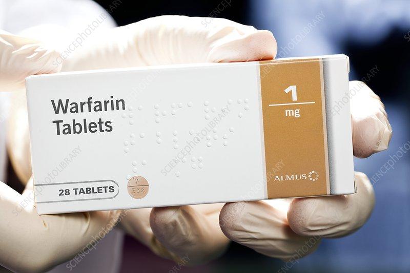 Warfarin anti-clotting tablets