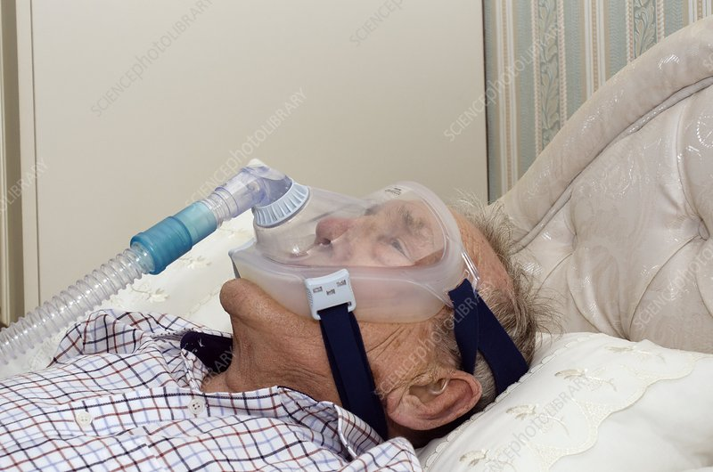 Man On Home Ventilator Stock Image C013 5848 Science Photo Library