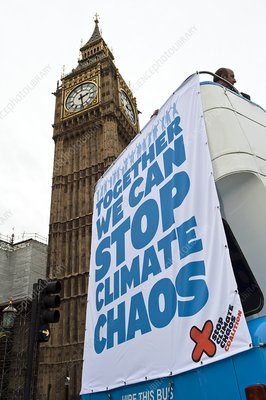 Climate change demonstration, London 2009