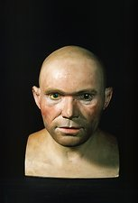 Cro-Magnon man reconstructed head