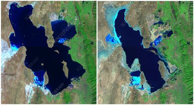 Great Salt Lake, USA, 1985-2010