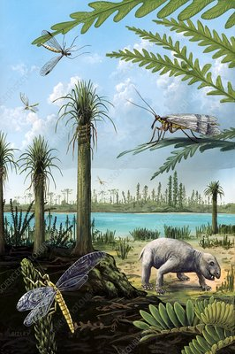 Triassic of Australia, prehistoric scene