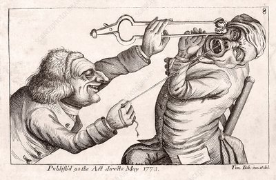 Dentistry caricature, 18th century