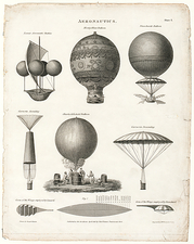 Early balloon designs, artwork