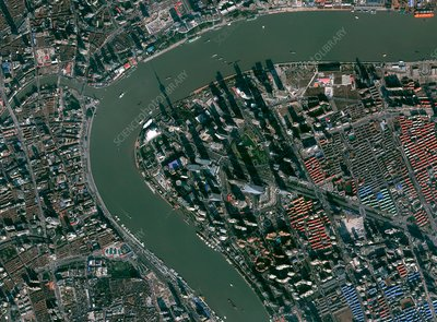 Shanghai, China, satellite image