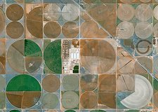 Crop irrigation, USA, satellite image