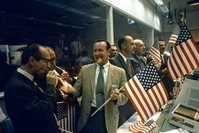 Apollo 11 officials celebrating, 1969