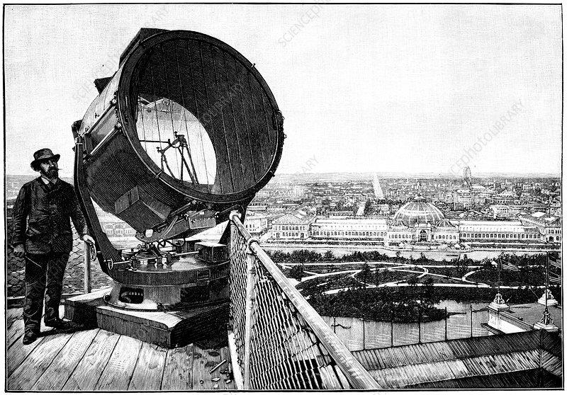Chicago World Fair searchlight, 1893