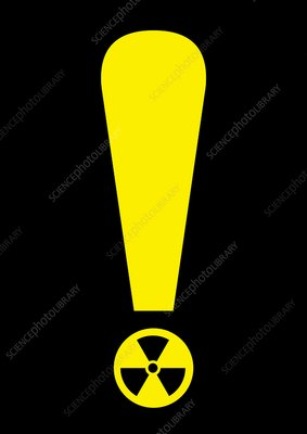 Radiation warning, conceptual artwork