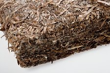 Dried seagrass insulating material