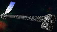 NuSTAR space telescope in orbit, artwork