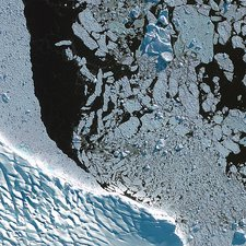 Antarctic Peninsula, satellite image