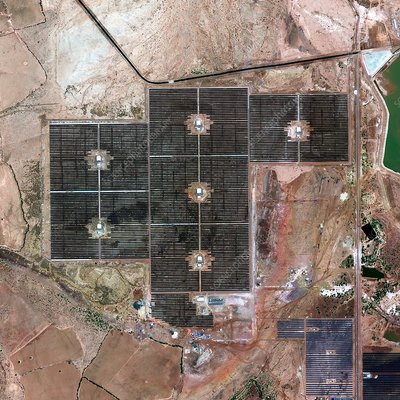 Gujarat Solar Park India, satellite image