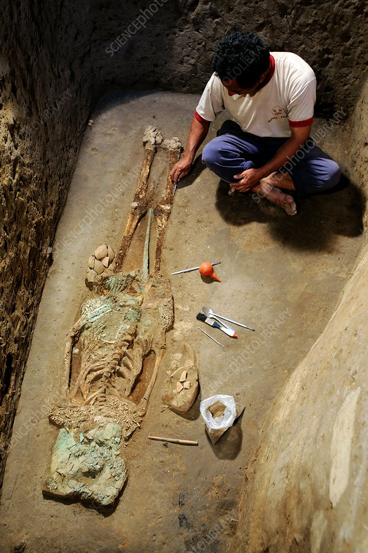 Archaeological excavation, Peru