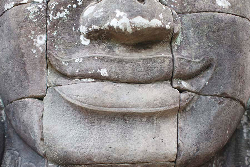 Carved mouth, Angkor Thom, Cambodia