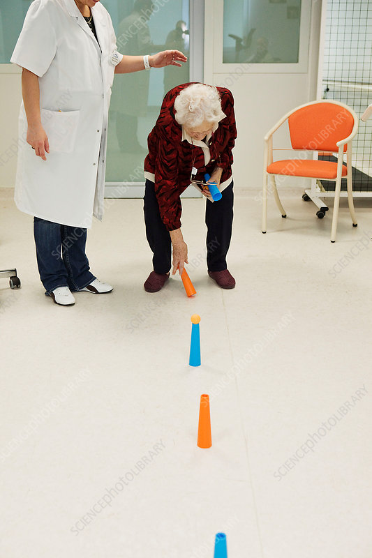 elderly person in physical therapy