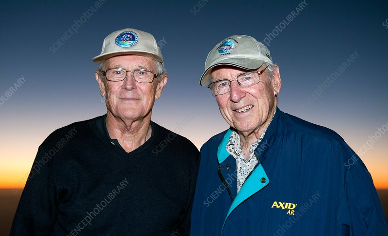 Duke and Lovell, US astronauts