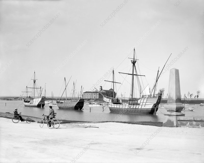 Columbus ship replicas, 1905