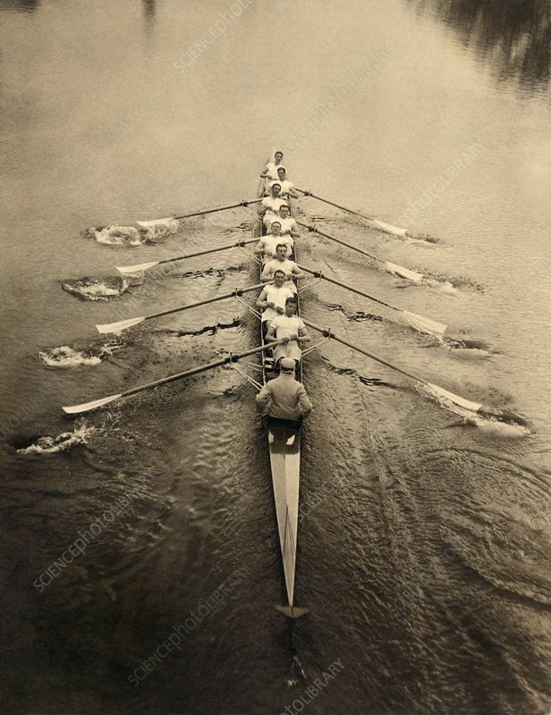 Rowing crew, early 20th century