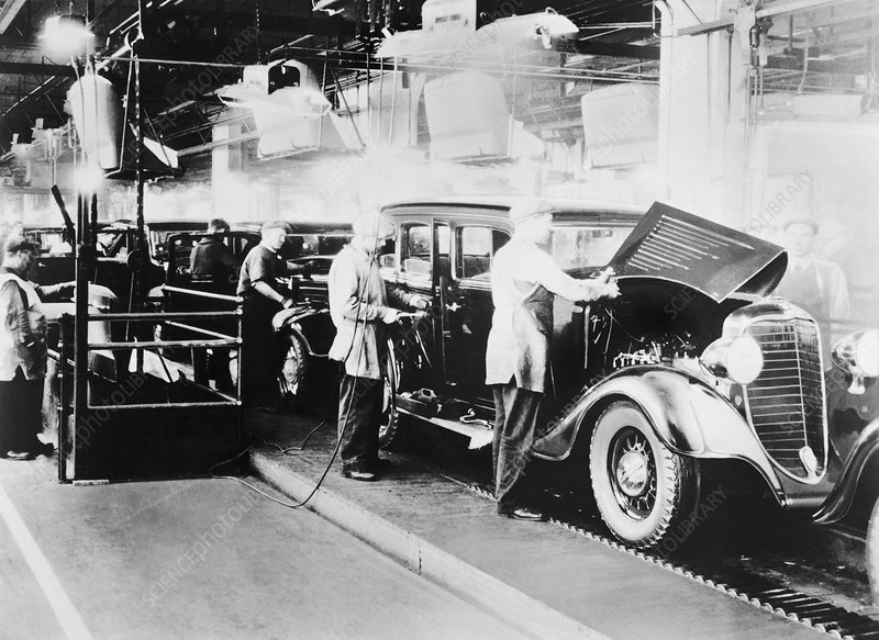 Dodge Main automobile factory, 1934