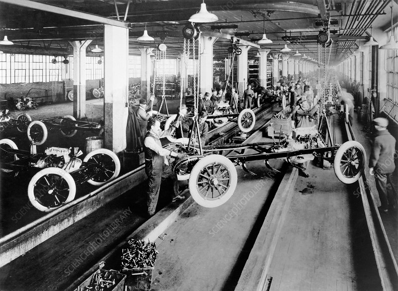 Dodge Brothers automobile factory, 1915