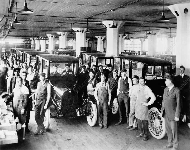 Dodge Brothers automobile factory, 1919