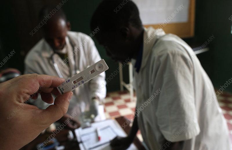 Malaria blood test, Mali
