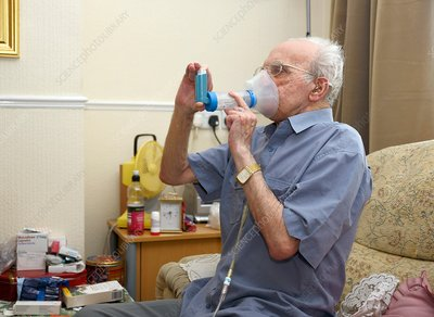 Inhaler use by COPD patient