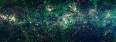 Milky Way nebulae, infrared image
