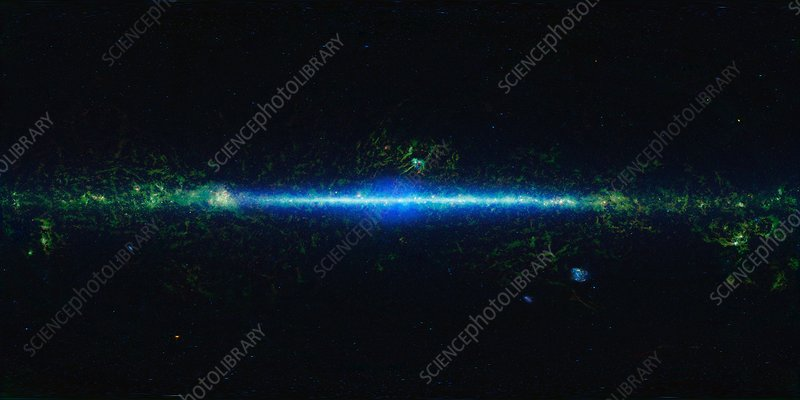 Milky Way galaxy, WISE infrared image