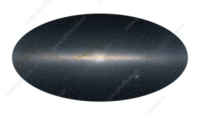 Milky Way galaxy, 2MASS infrared image