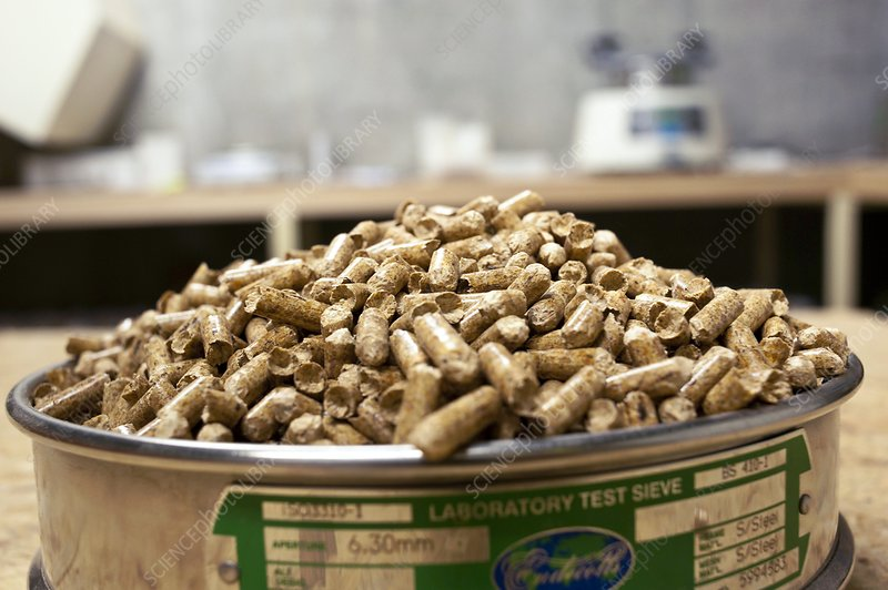 Wood Pellets France ~ Wood pellet production stock image c  science