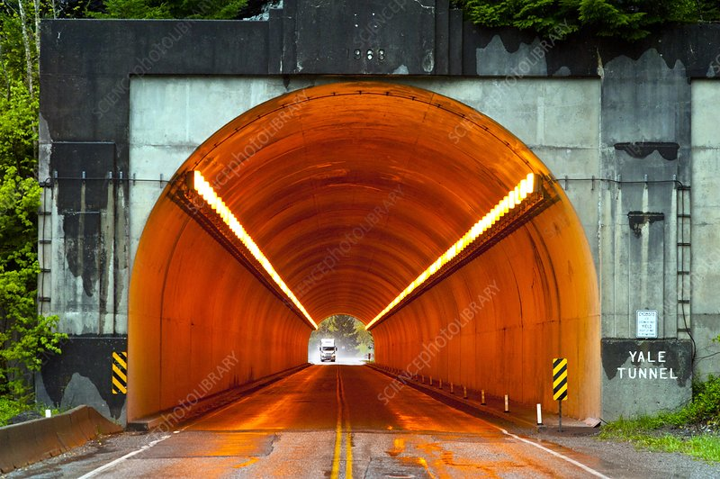 Truck and tunnel