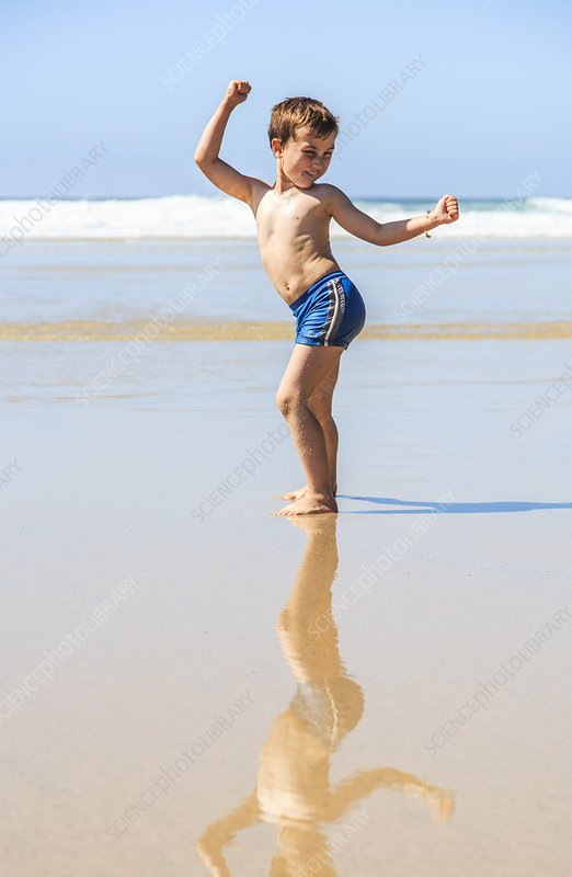 Young boy on a beach