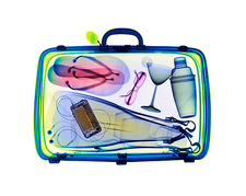 Holiday suitcase, X-ray