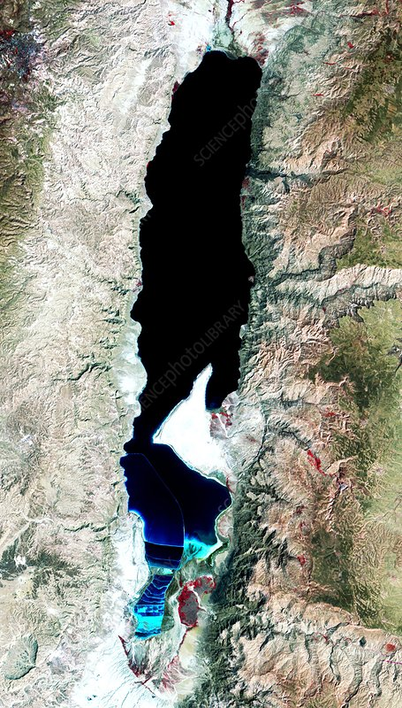 Dead Sea, 1972 satellite image