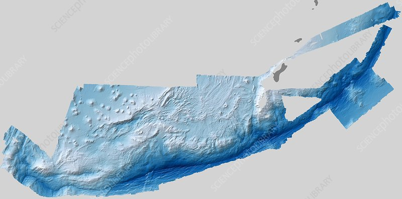 Mariana Trench, bathymetric map