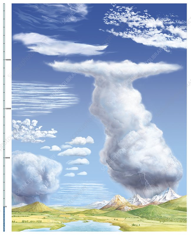 Awesome Cloud Types Diagram Stock Image C014 4783 Science Photo Library Wiring Digital Resources Sulfshebarightsorg