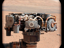 Curiosity rover's robotic arm, Mars