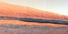 Mount Sharp rock layers, Mars