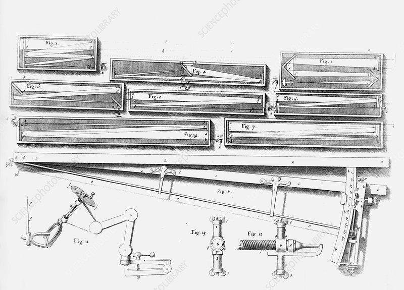 Hooke U0026 39 S Telescopes  17th Century - Stock Image C014  5158