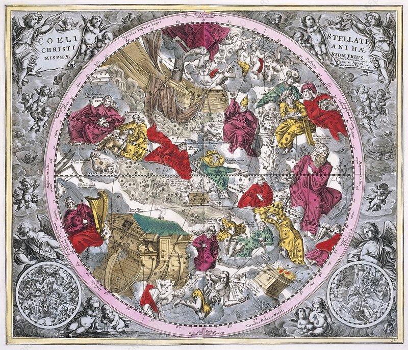 Christianized constellations, 1708