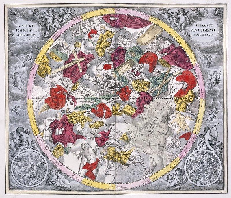 Christianized constellations 1708