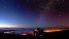 La Palma telescopes at night