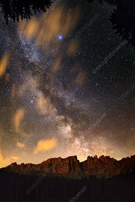 Milky Way over the Dolomites