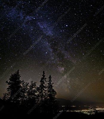 Milky Way over Innsbruck, Austria