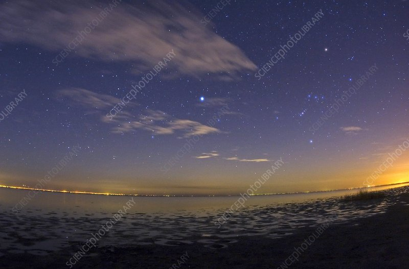 Night sky of the Caspian Sea, Iran