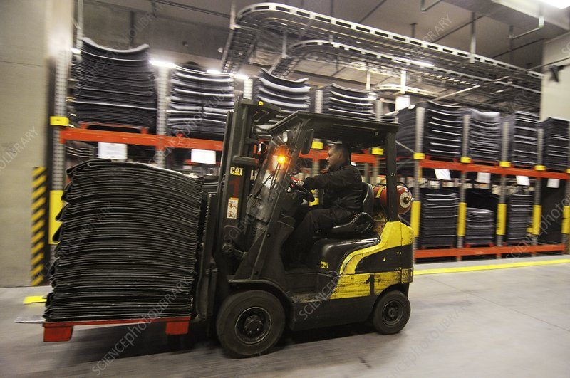 Stacks of rubber for tyre production