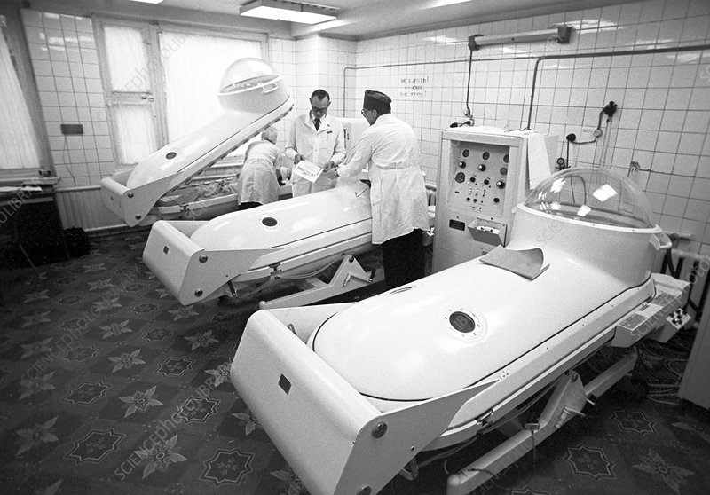 Hyperbaric oxygenation chamber, Russia